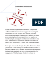 Supply Chain Management and Its Component