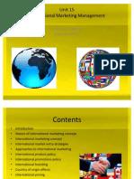 Unit 15 International Marketing Management