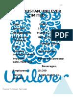 Hindustan Unilever Limited (Final Copy