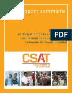 Étude sur la participation de la société civile aux instances de coordination nationale du Fonds mondial