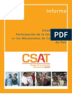 Estudio sobre la Participación de la Sociedad Civil en los Mecanismos de Coordinación de País