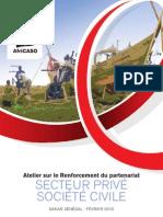 Atelier sur le Renforcement du partenariat secteur privé, secteur civil