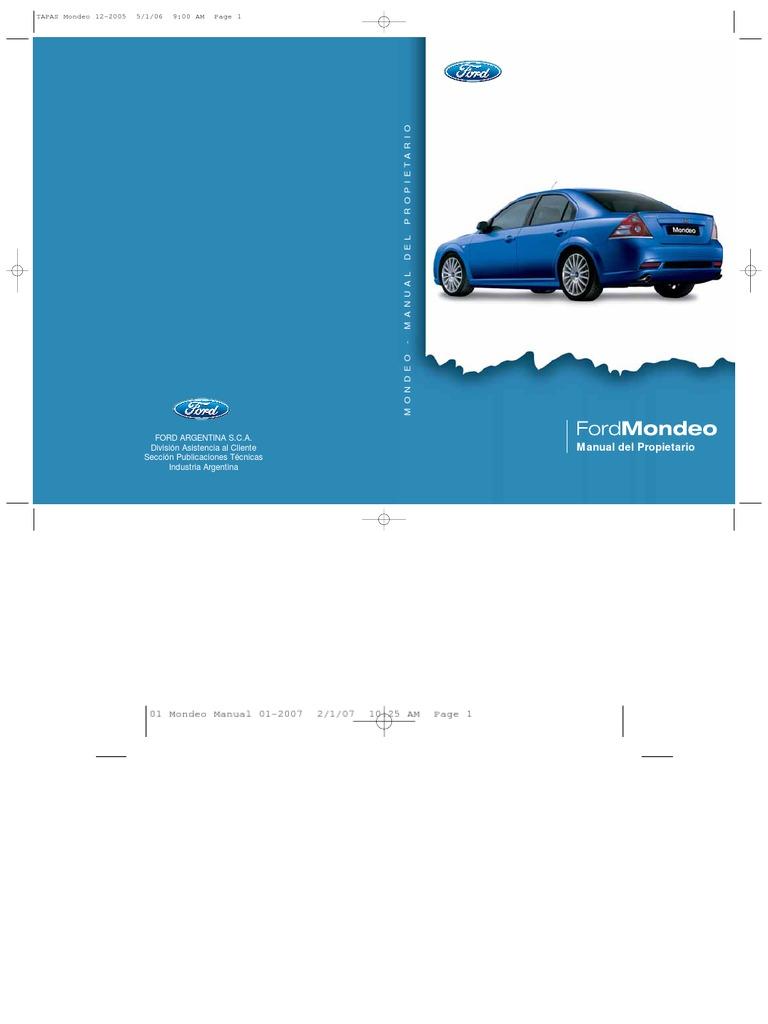 manual mondeo 2006 rh scribd com 2007 Ford Mondeo Ford Mondeo 2015