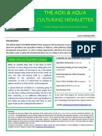 The Agri & Aqua Culturing Newsletter February 2012