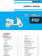 Daelim E-Five & S-Five Owner's Manual