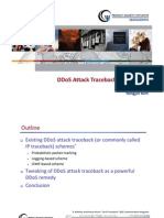 DDoS Attack Traceback and Beyond
