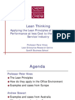 Lean Thinking in Service Industry