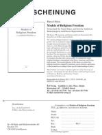 Models of Religious Freedom