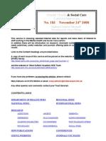 Mental Health Bulletin No 183 November 24th 2008