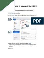 Cara Mencetak Di Microsoft Word 2010