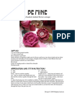 Beaded Flower Corsage PDF
