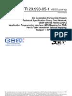3GPP TR 29.998-05-1 V8.0.0 (2008-12)