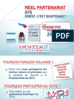 Programme Campagne Presidentielle 2012