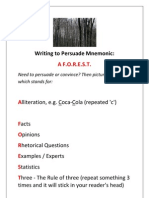 Persuasive Techniques A FOREST