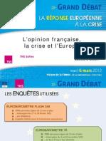Les Français , la crise et l'Europe