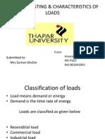 Load For Casting & Characteristics of Loads