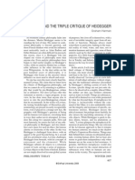 Graham Harman - Levinas and the Triple Critique of Heidegger