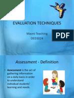 Evaluation Techniques (1)