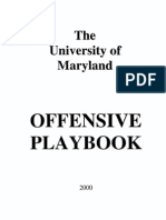 2000 University of Maryland Playbook-Offense