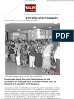 La bibliothèque du pôle universitaire inaugurée - Toute l'actualité de la Guadeloupe sur Internet - FranceAntilles.fr