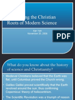 Reclaiming the Christian Roots of Modern Science (ppt)