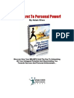 The Secret to Personal Power by Adam Khoo