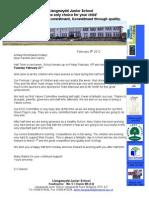 Newsletter Feb 9 2012