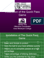 Installation of the Quick Pass Game[1]