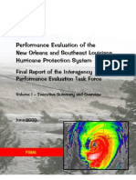 Volume 1, Exec Summary--Performance Evaluation of the New Orleans and Southeast Louisiana Hurricane Protection System