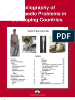 Bibliography of Orthopaedic Problems in Developing Countries
