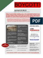 BOYCOTT! Newsletter #72