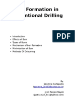 Burr formation in drilling