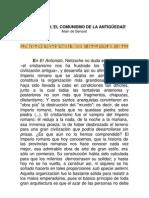 Cristianismo, El Comunismo de la Antigüedad -Alain de Benoist-