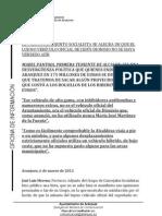MORENO SE ALEGRA DE LA NO VENTA DEL LUJOSO COCHE DEL EX ALCALDE