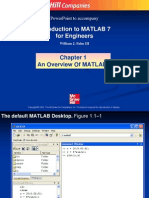 Chapter 1 an Overview of MATLAB