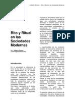 Edilberto Romero - Ritos y Rituales en Las Sociedades Modernas