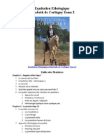 Equitation Ethologique Elisabeth de Corbigny Sommaire Tome2