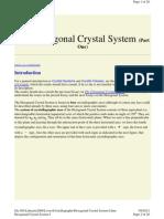 Cristallography - Hexagonal Crystal System I