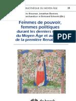 Femmes de pouvoir, femmes politiques (table des matières)