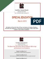 Special Education Board Presentation March 2012