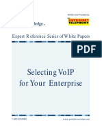 Selecting Voip