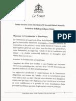 Lettre Ouverte au Président Michel Joseph Martelly