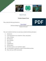 4-H Webinar Request Form