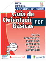 Rotafolio Guia de Orientaciones Basicas Contra El Colera Curva 17x22