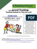 TRRC Jones Comprehension Workshop March 2012
