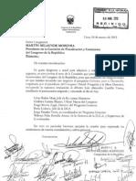 Carta a Comisión de Fiscalización