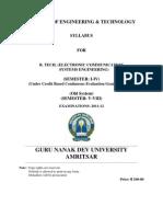 B.tech. _Electronic Communication Systems Engg._ Semester I-VI _CBCEGS
