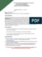 Elementary II - SPAN 002 Z1 - Course Syllabus