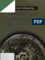 Echeverria Bolivar_la Modernidad de lo Barroco
