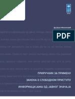 Prirucnik Za Primenu Zakona o Slobodnom Pristupu Informacijama